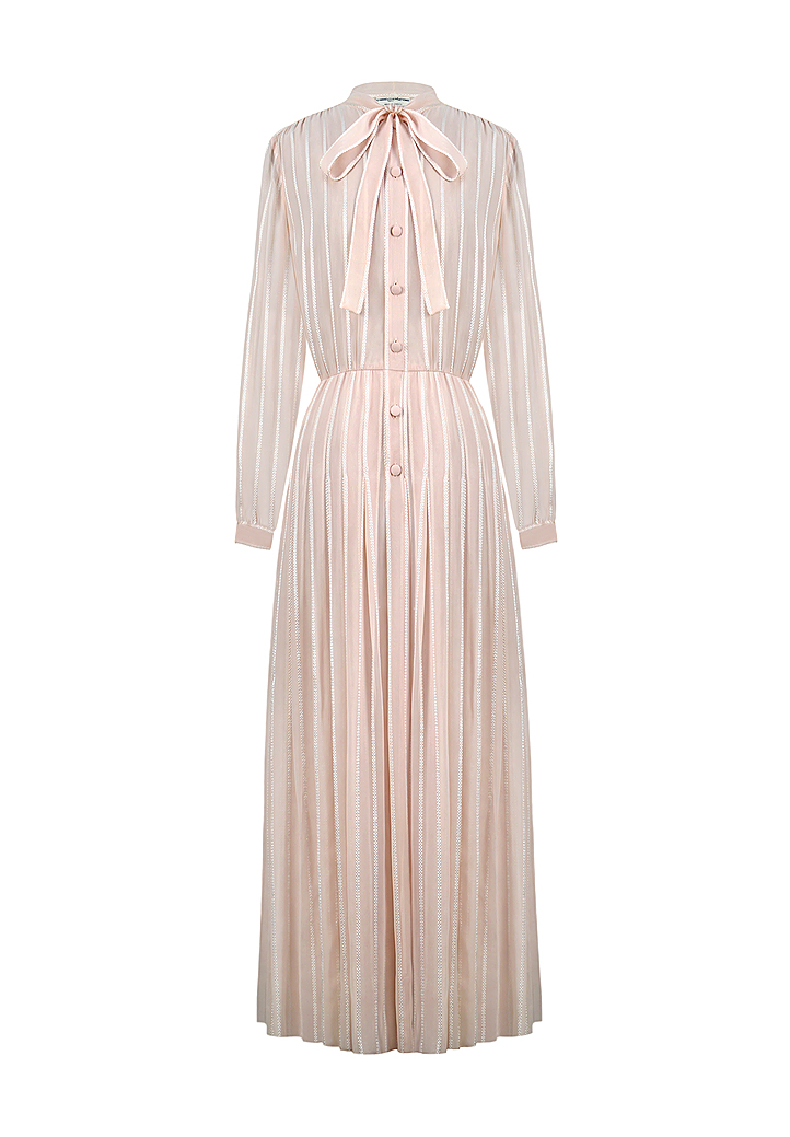 Pale Pink Chiffon Chanel Dress Vintage Voyage Store - Lawn care invoice template free chanel online store