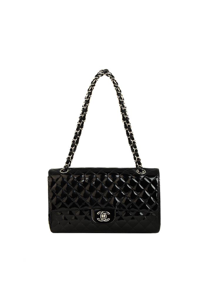 6287e7d01deb Chanel 2.55 Patent Leather Handbag - Vintage Voyage store