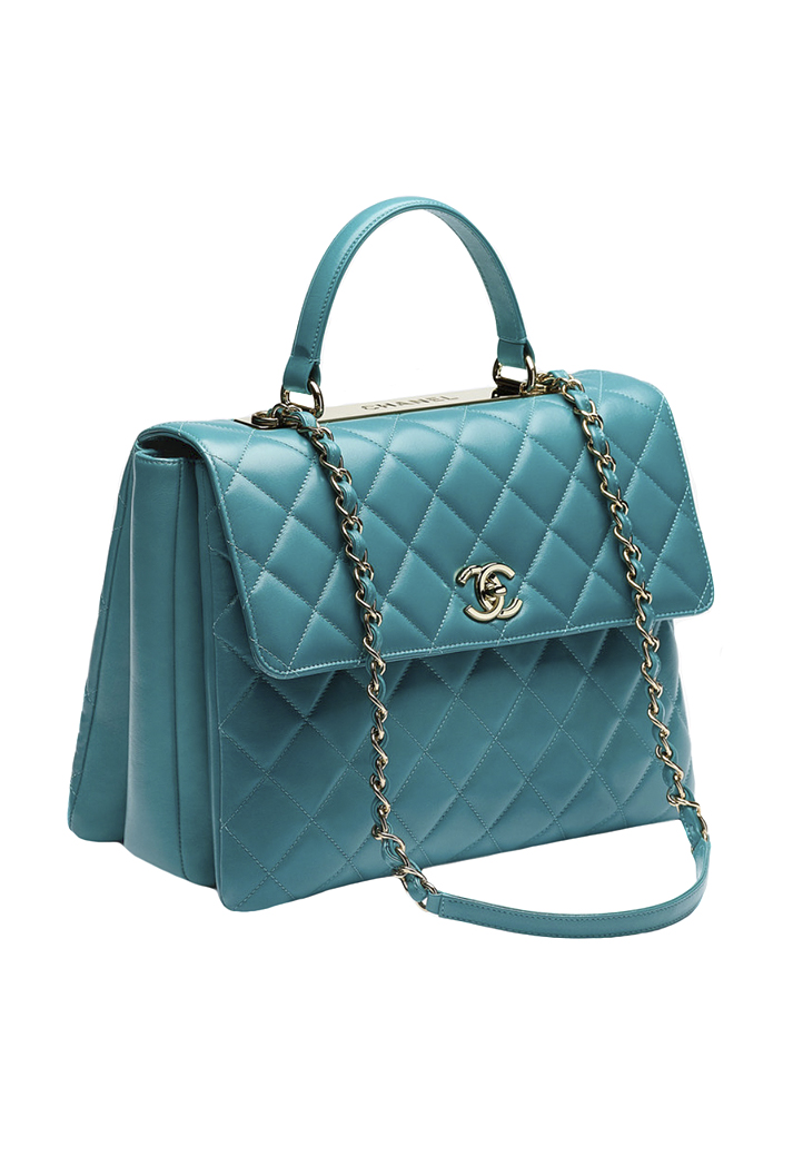 Chanel Top Handle Quilted Flap Bag - Vintage Voyage store 6e9a2da2707db