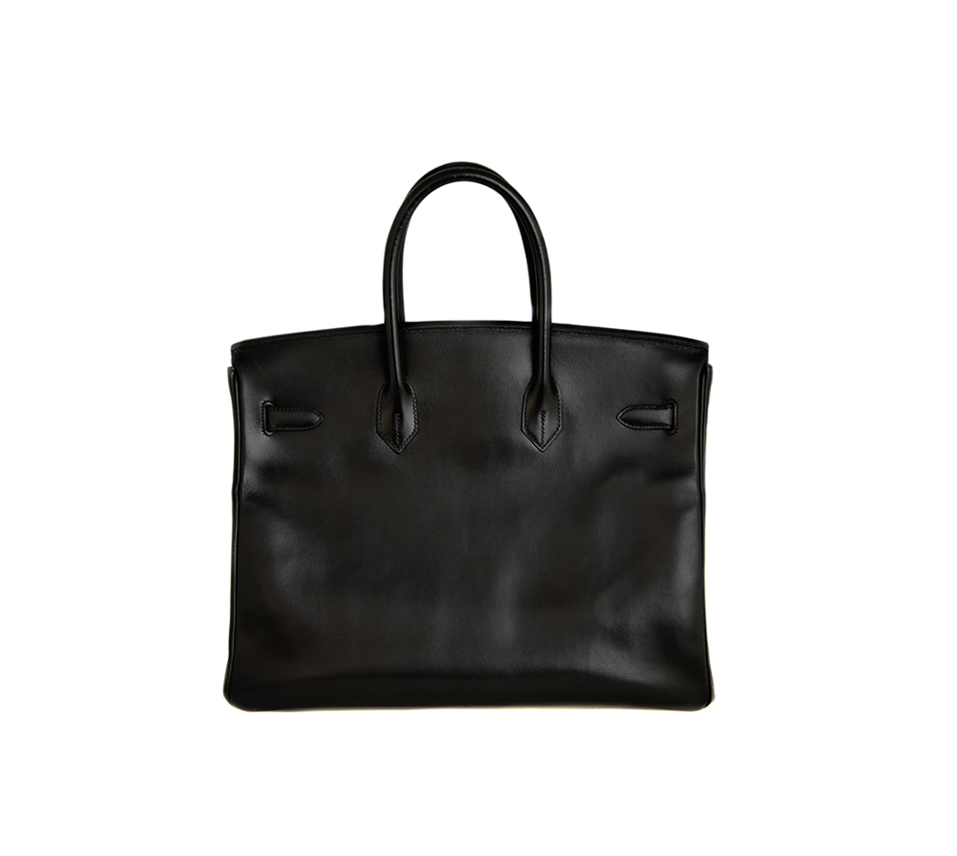 3a51029d2385 Hermès Birkin Noir Box 35 - Vintage Voyage store