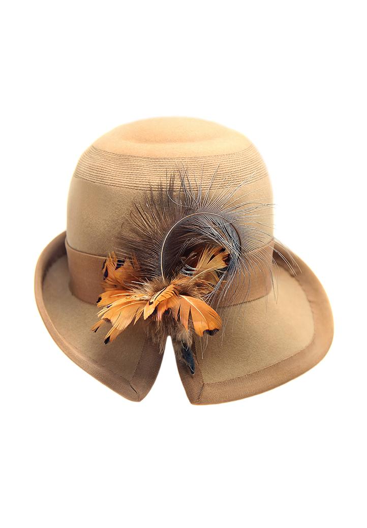 Elsa Schiaparelli Felt Hat - Vintage Voyage store b0d31aa88c62