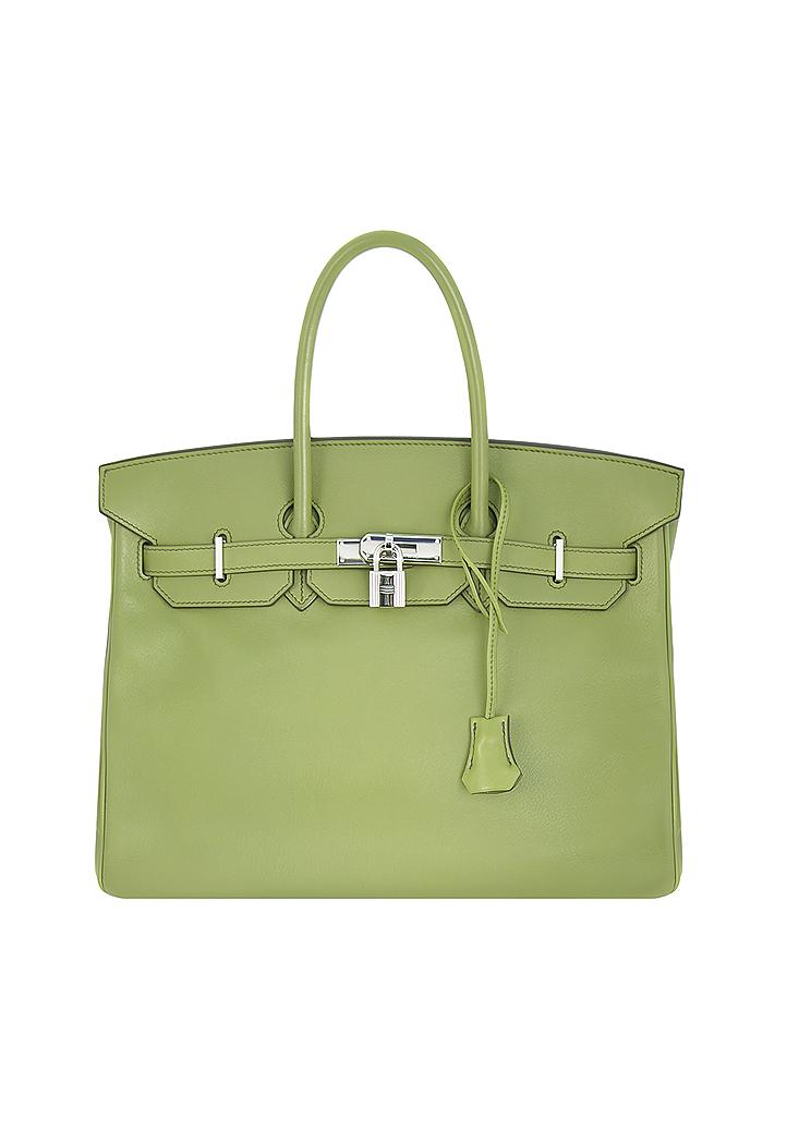 Hermès Birkin 35 Green Swift Handbag - Vintage Voyage store 1ca0961f42064