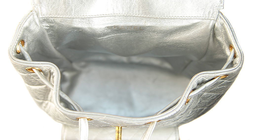 c0488802643e Chanel Silver Backpack - Vintage Voyage store