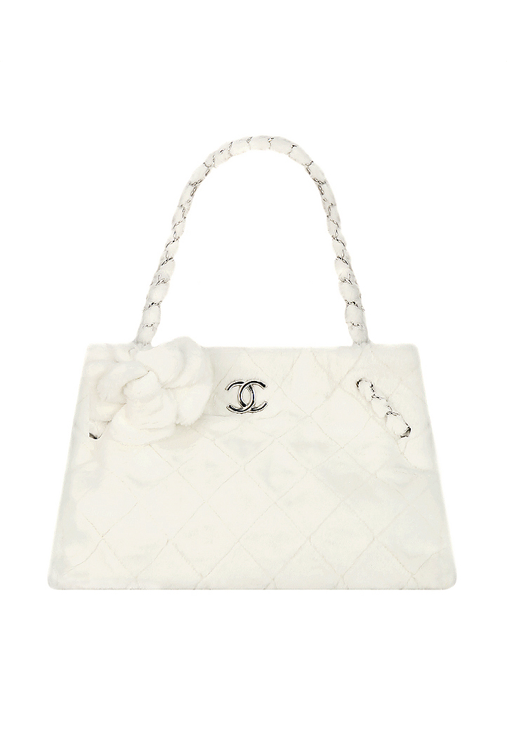 f92f32b75f975c Chanel Quilted Faux Fur Bag - Vintage Voyage store