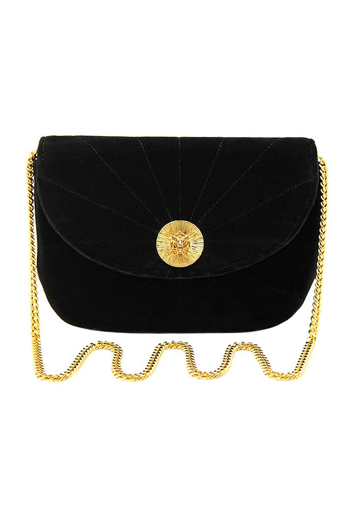 297f29b37013 Chanel Black Velvet Handbag - Vintage Voyage store
