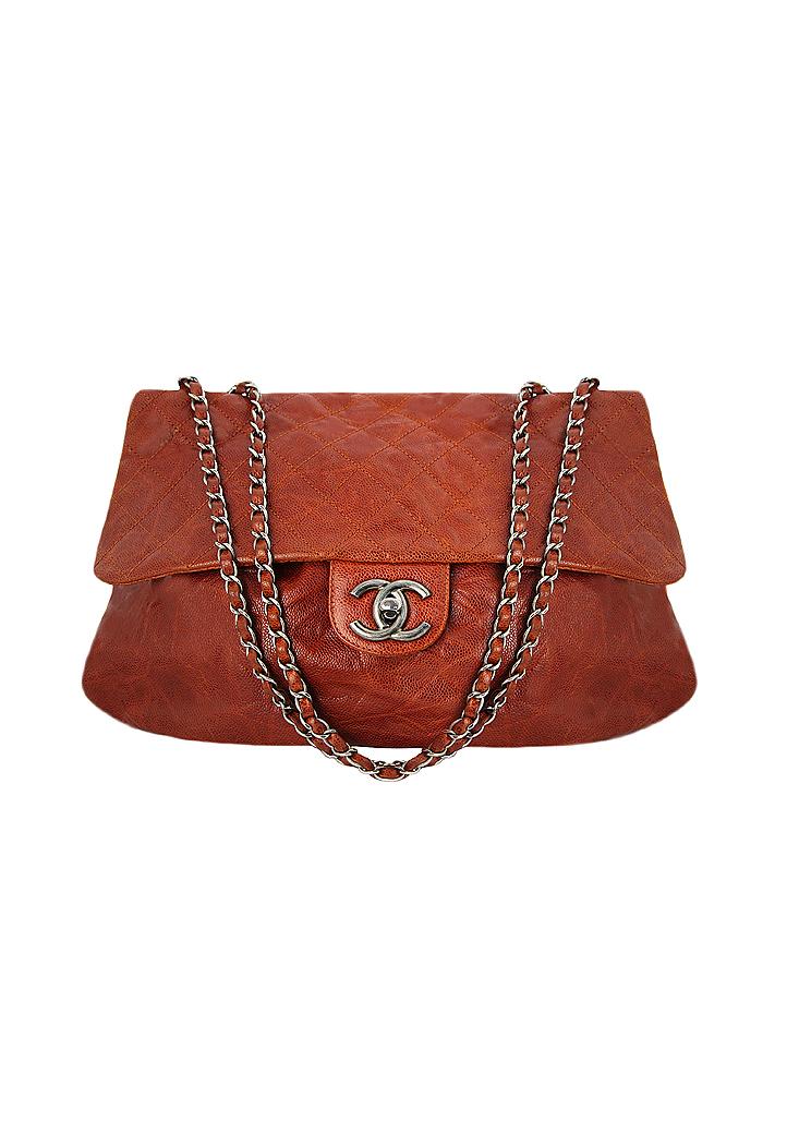 66f43639ba3abc Chanel Brown Flap Bag - Vintage Voyage store