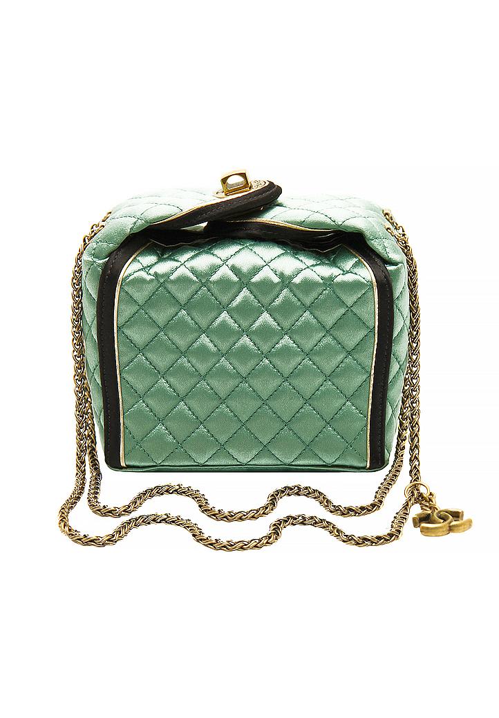 56bdebd5ca3b Chanel Silk Handbag - Vintage Voyage store