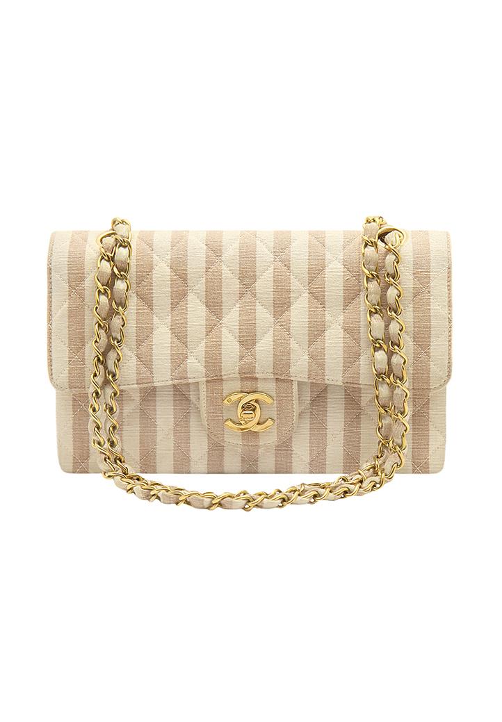 acc05fb07cfbc8 Chanel Striped Flap Bag - Vintage Voyage store
