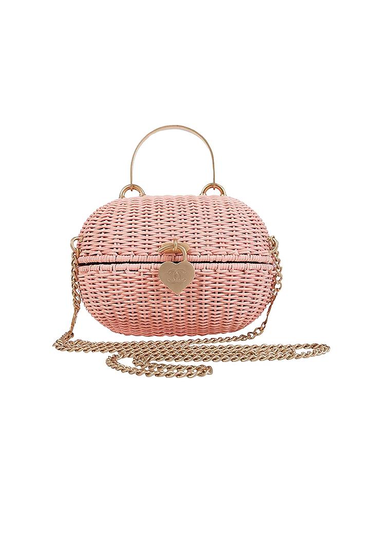 Chanel Pink Straw Bag - Vintage Voyage store f9446c8dd1d